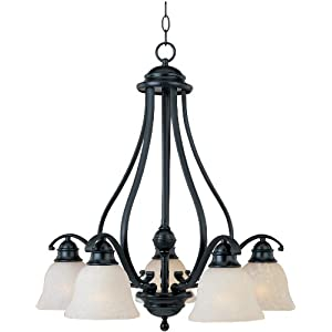 Amazon.com: Maxim Lighting 11815ICBK Linda 5-Light Chandelier ...
