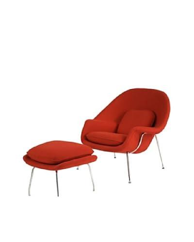 Manhattan Living Womb Chair & Ottoman Set