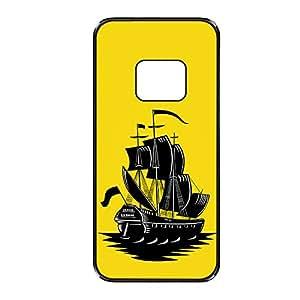 Vibhar printed case back cover for Samsung Galaxy Alpha YellowShip