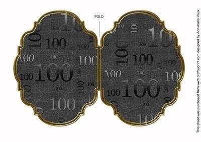 100 Spitzen schwarz, 7 x 5 Fancy Klappkarte in Halterung von Ann marie Vaux,
