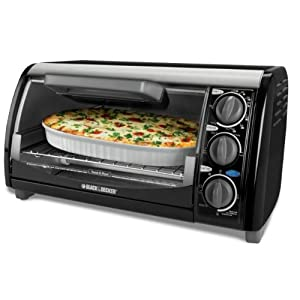 Black & Decker TRO490B 1200-Watt 4-Slice Countertop Oven and Broiler with Removable... by Black & Decker