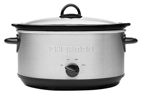 Chefman RJ15-3-SS-R Slow Cooker, 3 quart, Stainless Steel (3 Dip Crock Pot compare prices)