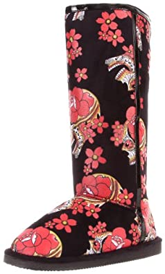 Iron Fist Women's Siesta Skull Fugg Boot,Black/Red,5 M US