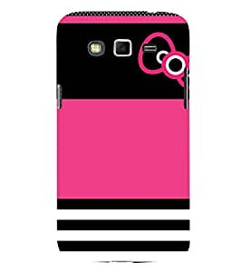 Beautiful Bow Design Cute Fashion 3D Hard Polycarbonate Designer Back Case Cover for Samsung Galaxy Grand 2 :: Samsung Galaxy Grand 2 G7105 :: Samsung Galaxy Grand 2 G7102