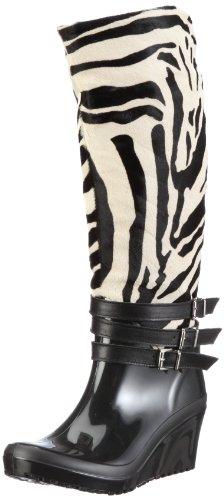 Nat-2 Anim Boots Womens Black Schwarz/tiger Size: 7 (41 EU)