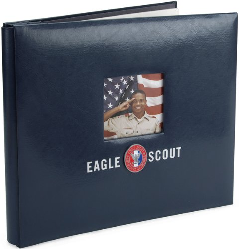 K&Company Eagle Scout 12-by-12-Inch Scrapbook with Window, Post bound