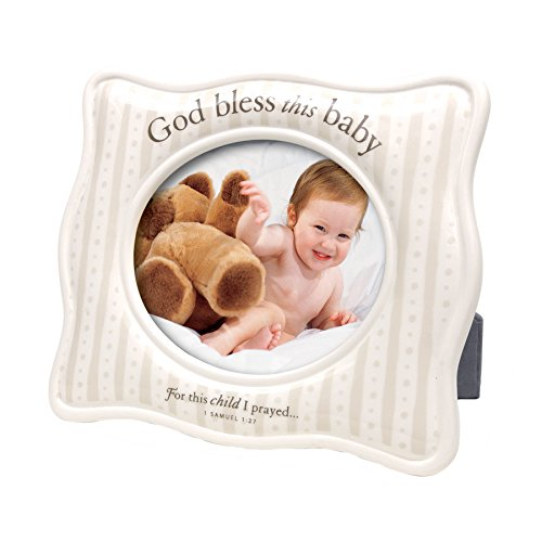 Lighthouse Christian Products for This Child I Prayed Ceramic Frame, 8 x 6 1/2""