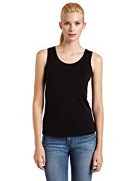 Notations Women\'s Basic Crew Neck Tank, Black, X-Large