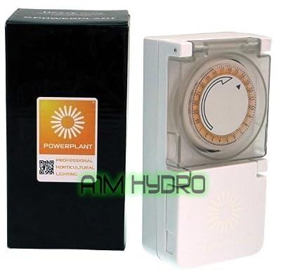 Powerplant Heavy Duty 24 Hour 15 Minute Grow Light Timer 600W Hydroponics