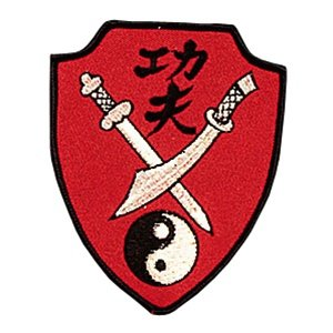 "Kung Fu Swords Patch - 3-1/2"" x 4-1/2"""