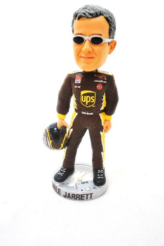 RARE Nascar Driver Dale Jarrett #88 &#8220;UPS&#8221; COMMERATIVE Nascar official gage base Bobble head Statue