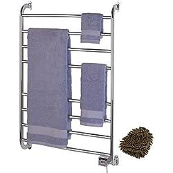 Warmrails HW/SW Kensington Wall Mounted Towel Warmer, Nickel Finish, Size: 39.5-Inch (Complete Set) w/ Bonus: Premium Microfiber Cleaner Bundle