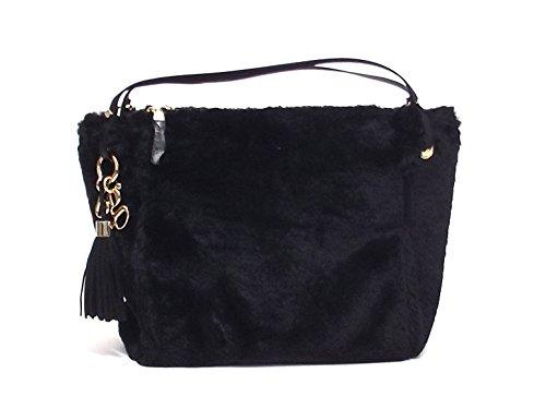 Borsa donna Blugirl, 817002, a spalla, pelliccia sintetica nera A6102