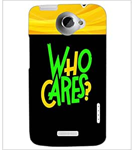 PrintDhaba Quote D-2681 Back Case Cover for HTC ONE X (Multi-Coloured)