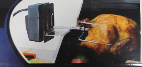 Bbq grillware rotisserie kit with electric motor and steel for Bbq spit motors electric