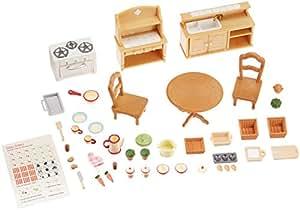 Calico critters deluxe kitchen set toys games for Kitchen set toys amazon