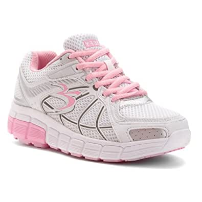 Gravity Defyer Women's Super Walk Athletic Shoe 5 M US,White/Pink