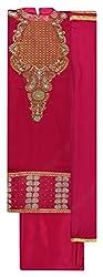 Punjaban Boutique Women's Cotton Unstitched Dress Material (Pink)