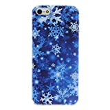Snowflake Pattern PC Hard Case with Interior Matte Protection for iPhone 5/5S