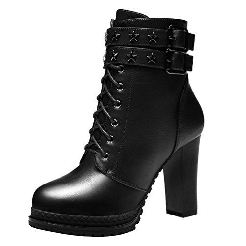 fq-real-womens-stars-rivets-platform-block-heel-zipper-ankle-boots-35-ukblack