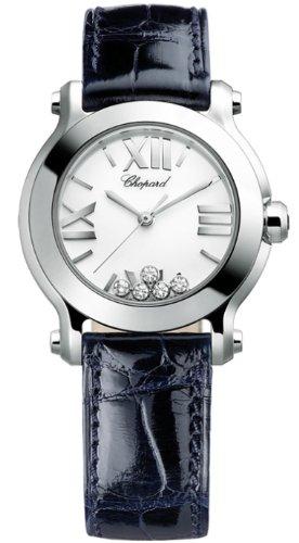 Chopard Happy Sport II Round White Diamond Dial Ladies Watch 278509-3001