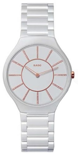 Rado Thinline Jubile White Ceramic Ladies Watch