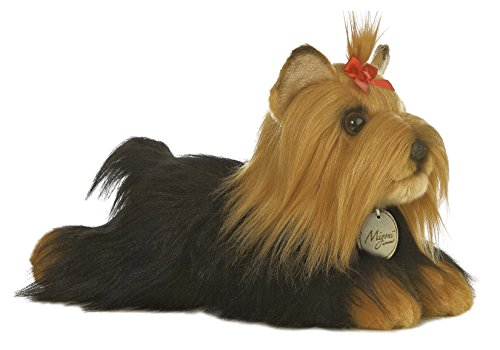 "Aurora World Miyoni 11"" Yorkshire Terrier Stuffed Dog with Brush"