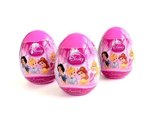3 Disney Princess Surprise Eggs with Toy and Candy Inside. Exciting and Fun Toy By Bon Bon Buddies for Children As Seen in Unboxing and Unwrapping Videos on Youtube