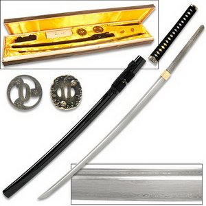 Hand Forged Handmade Damascus samurai warrior Katana Sword Kit with Wood Case