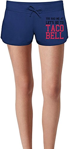 lets-go-to-taco-bell-funny-slogan-las-damas-verano-sudor-shorts-summer-sweat-shorts-for-women-ladies