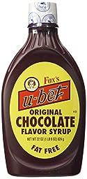 Foxs U Bet Chocolate Syrup, 20 Ounce -- 12 per case.