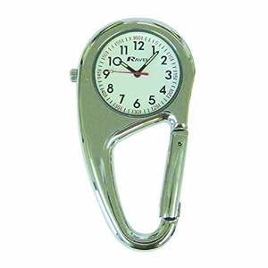 Ravel Clip On Doctors Nurses Unisex Carabiner Pocket Fob Backpack Watch R1105.01