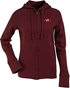Arizona State Ladies Zip Front Hoody Sweatshirt (Team Color) by Antigua
