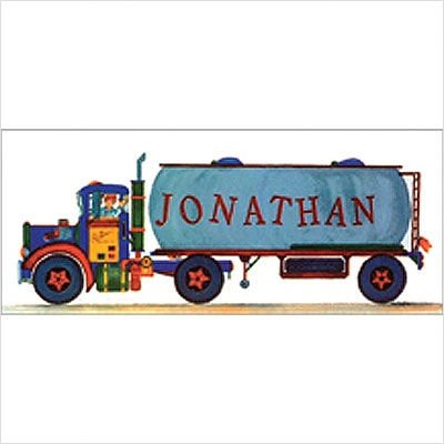 Tank Truck Wall Art Picture Type: Create-a-Name Contemporary Mount with Beveled Edge