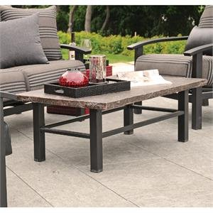 Homecrest Aluminum Coffee Table With Stone Top