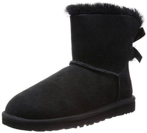 Ugg Mini Bailey Bow, Stivali, Donna, Nero (Black), 39