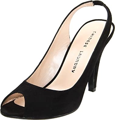 Chinese Laundry Women's Cupcakes Peep-Toe Pump,Black,5.5 M US