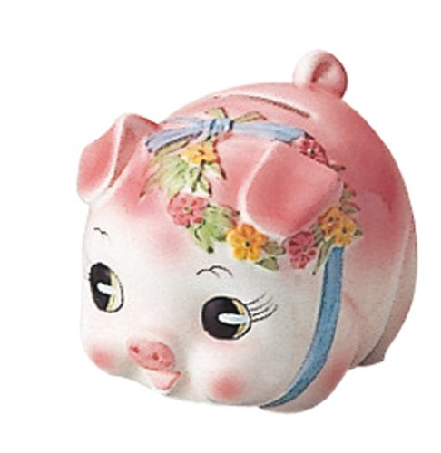 Small Pink Pig Bank Kato Retro Crafts - 1