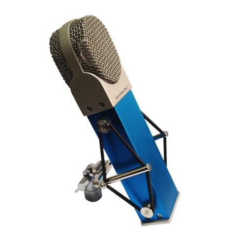Hd-Hynudal® M9 Blue Large Diaphragm Condenser Microphone + Silvery Microphone Case + Mic Shock Mount