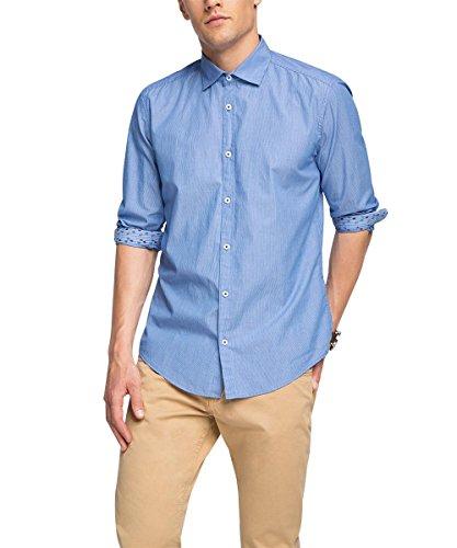 ESPRIT 076EE2F025, Camicia Uomo, Blu (Dark Blue), Medium (Taglia Produttore: M)
