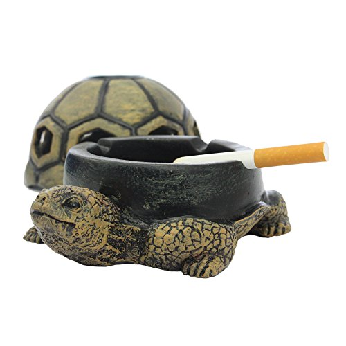 Cigar Cigarette Ashtray with Lid Ash holder Fashion Creative Unique Resin Animal Room Home Office Decor Birthday Gift (turtle)