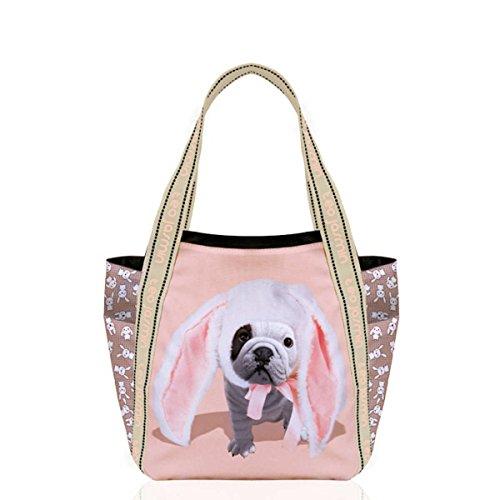 Téo Jasmin - Grand sac cabas Téo Bunny - champagne