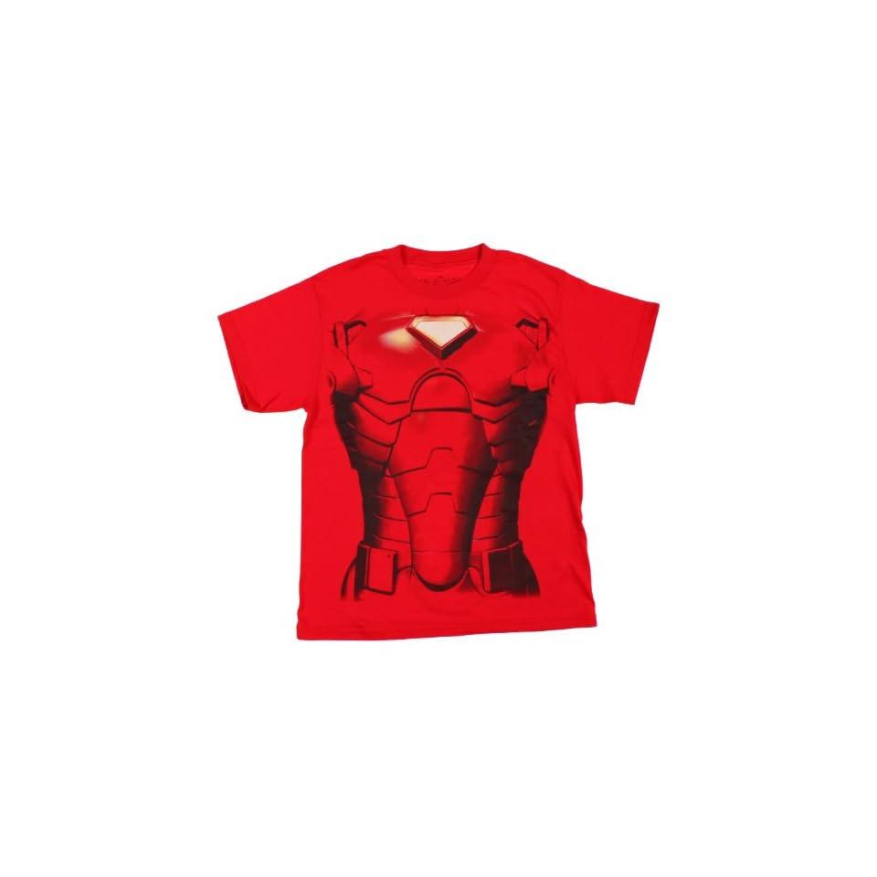 Marvel The Invincible Iron Man Flip Face Boys Shirt