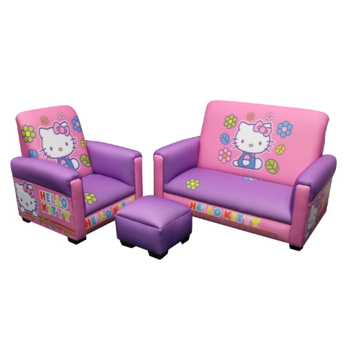 Check Out This Hello Kitty Toddler Sofa, Chair and Ottoman Set, Lavender