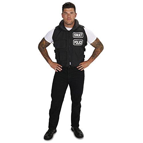 [SWAT Team Vest Adult Plus Costume One Size] (Swat Vest Costume)