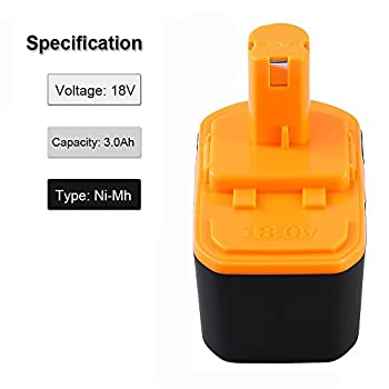 2Packs 18V 3.0Ah Battery Replace for Ryobi ONE+ P100 P102 P101 High Capacity Cordless Power Tools