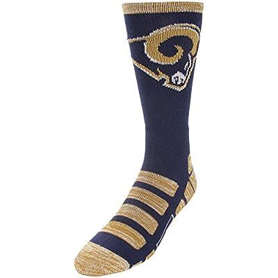 Los Angeles Rams For Bare Feet NFL Patches Team Socks Medium