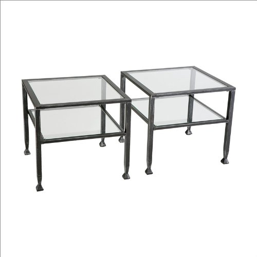 Southern Enterprises Black Metal Cocktail Table