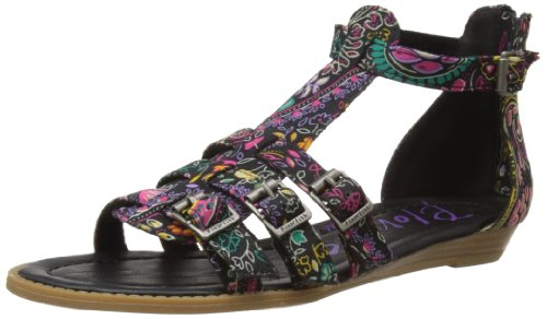 Blowfish Malibu Womens Barnes Fashion Sandals 3873 Black Gypsy Paisley 4 UK, 37 EU