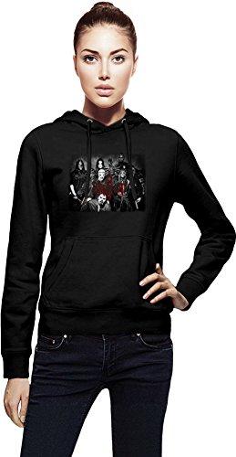 Slipknot Members Cappuccio da donna Women Jacket with Hoodie Stylish Fashion Fit Custom Apparel By Genuine Fan Merchandise Medium